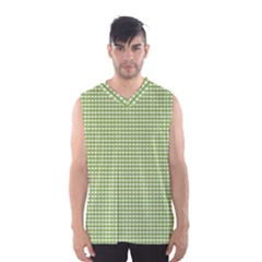 Gingham Check Plaid Fabric Pattern Men s Basketball Tank Top