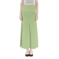 Gingham Check Plaid Fabric Pattern Maxi Skirts