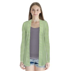 Gingham Check Plaid Fabric Pattern Cardigans