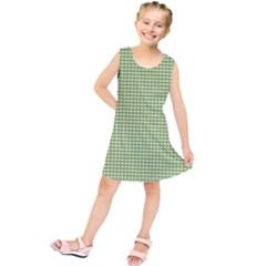 Gingham Check Plaid Fabric Pattern Kids  Tunic Dress