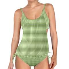 Gingham Check Plaid Fabric Pattern Tankini