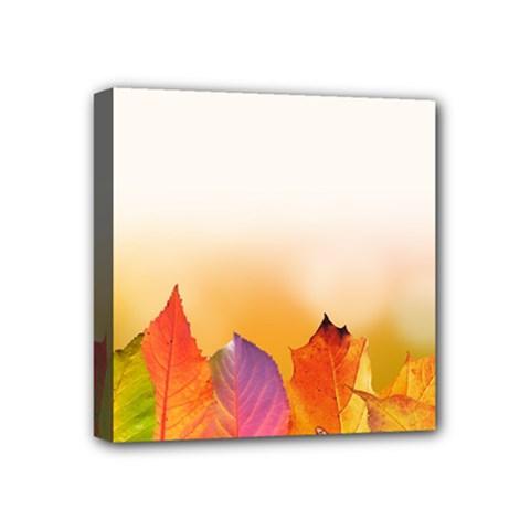 Autumn Leaves Colorful Fall Foliage Mini Canvas 4  x 4