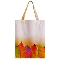 Autumn Leaves Colorful Fall Foliage Zipper Classic Tote Bag