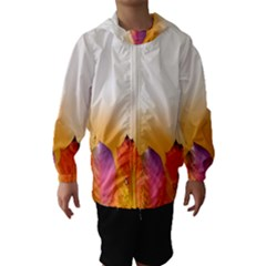 Autumn Leaves Colorful Fall Foliage Hooded Wind Breaker (kids)