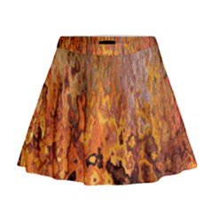 Background Texture Pattern Vintage Mini Flare Skirt