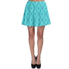 Pattern Background Texture Skater Skirt