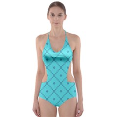 Pattern Background Texture Cut Out One Piece Swimsuit