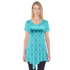 Pattern Background Texture Short Sleeve Tunic