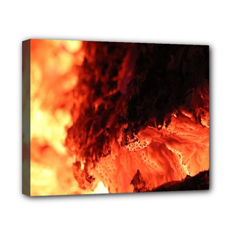 Fire Log Heat Texture Canvas 10  x 8