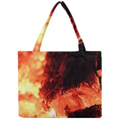Fire Log Heat Texture Mini Tote Bag