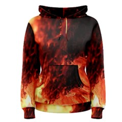 Fire Log Heat Texture Women s Pullover Hoodie