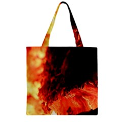 Fire Log Heat Texture Zipper Grocery Tote Bag