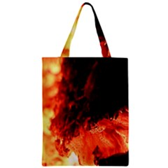 Fire Log Heat Texture Zipper Classic Tote Bag