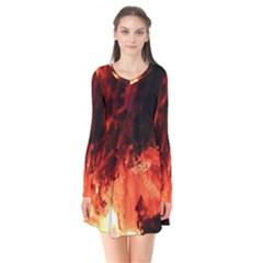 Fire Log Heat Texture Flare Dress