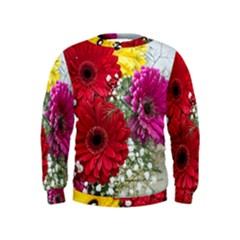 Flowers Gerbera Floral Spring Kids  Sweatshirt