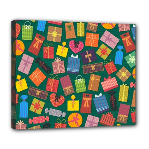 Presents Gifts Background Colorful Deluxe Canvas 24  X 20