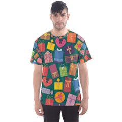 Presents Gifts Background Colorful Men s Sports Mesh Tee