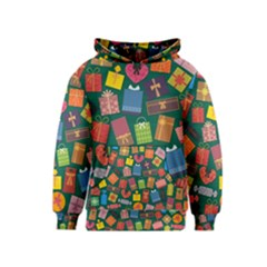 Presents Gifts Background Colorful Kids  Pullover Hoodie