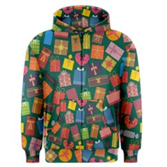 Presents Gifts Background Colorful Men s Zipper Hoodie