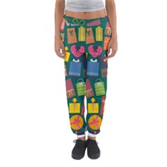 Presents Gifts Background Colorful Women s Jogger Sweatpants