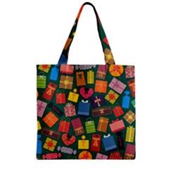 Presents Gifts Background Colorful Zipper Grocery Tote Bag