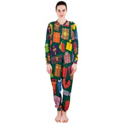 Presents Gifts Background Colorful Onepiece Jumpsuit (ladies)
