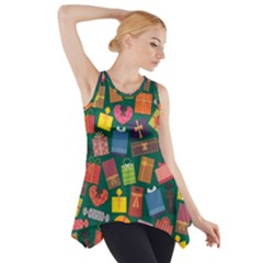 Presents Gifts Background Colorful Side Drop Tank Tunic