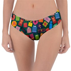Presents Gifts Background Colorful Reversible Classic Bikini Bottoms