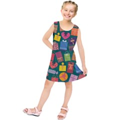 Presents Gifts Background Colorful Kids  Tunic Dress