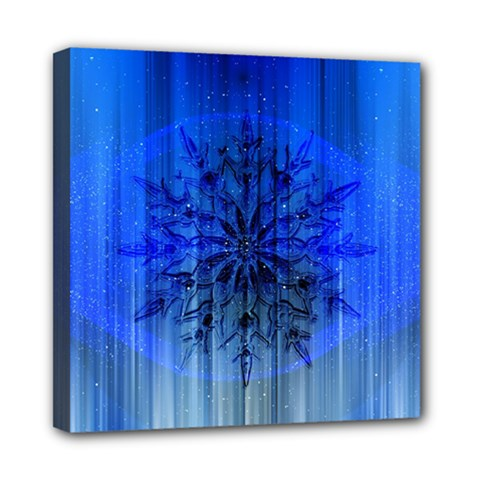 Background Christmas Star Mini Canvas 8  x 8