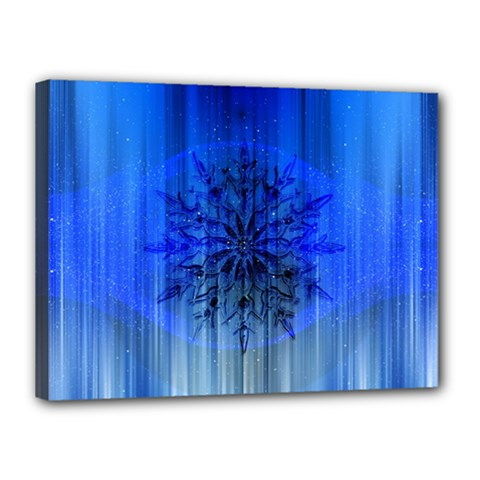 Background Christmas Star Canvas 16  X 12