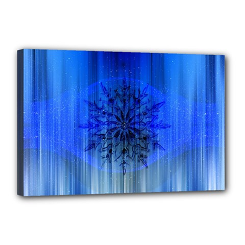 Background Christmas Star Canvas 18  x 12