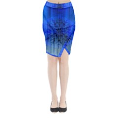 Background Christmas Star Midi Wrap Pencil Skirt