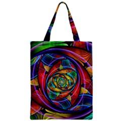 Eye of the Rainbow Zipper Classic Tote Bag