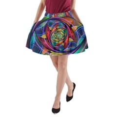 Eye of the Rainbow A-Line Pocket Skirt