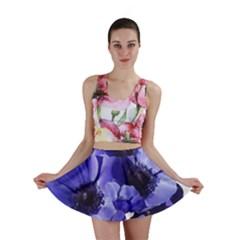 Poppy Blossom Bloom Summer Mini Skirt