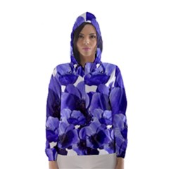 Poppy Blossom Bloom Summer Hooded Wind Breaker (Women)