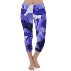 Poppy Blossom Bloom Summer Capri Winter Leggings