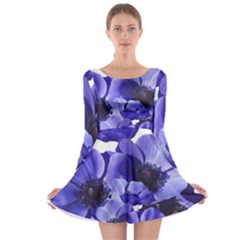 Poppy Blossom Bloom Summer Long Sleeve Skater Dress