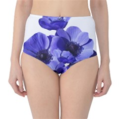 Poppy Blossom Bloom Summer High Waist Bikini Bottoms
