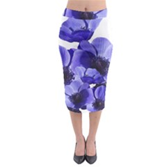 Poppy Blossom Bloom Summer Midi Pencil Skirt