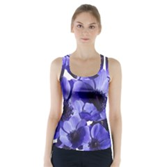Poppy Blossom Bloom Summer Racer Back Sports Top