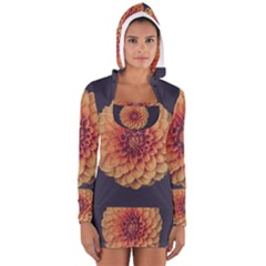 Art Beautiful Bloom Blossom Bright Women s Long Sleeve Hooded T-shirt