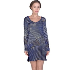 Textures Sea Blue Water Ocean Long Sleeve Nightdress