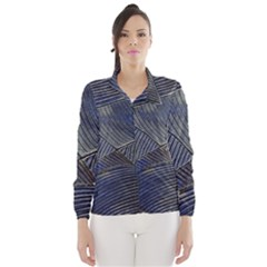 Textures Sea Blue Water Ocean Wind Breaker (women)