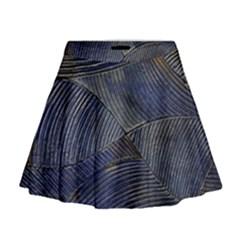 Textures Sea Blue Water Ocean Mini Flare Skirt