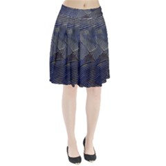 Textures Sea Blue Water Ocean Pleated Skirt