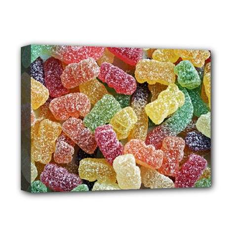 Jelly Beans Candy Sour Sweet Deluxe Canvas 16  x 12