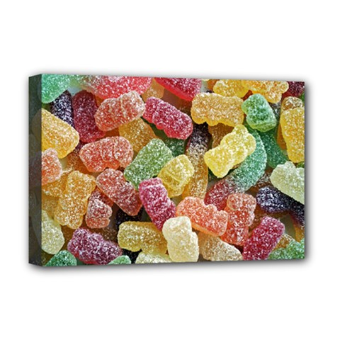 Jelly Beans Candy Sour Sweet Deluxe Canvas 18  X 12