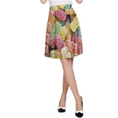 Jelly Beans Candy Sour Sweet A-Line Skirt
